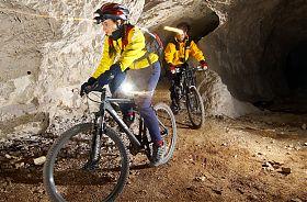 Biken im Bergwerk