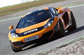 McLaren fahren Rennstrecke