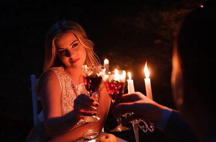 romantische abend zu zweit